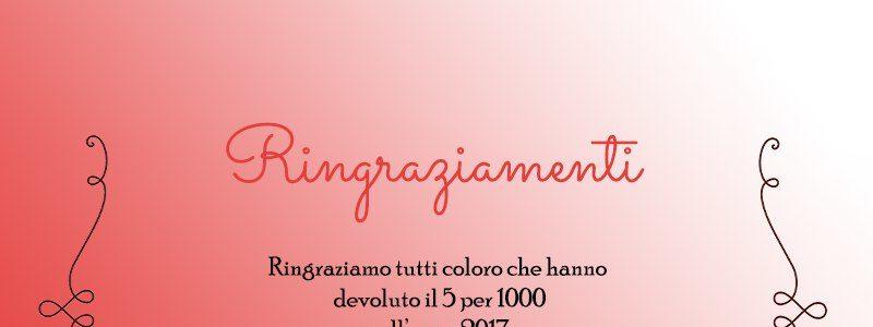 RINGRAZIAMENTI 5 PER 1000