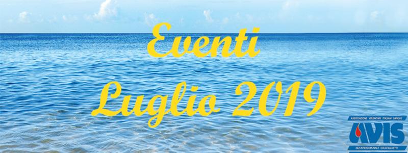 Eventi Luglio 2019